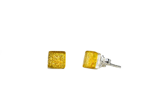 Northern Lights Glass Stud Earrings Sparkling Canari