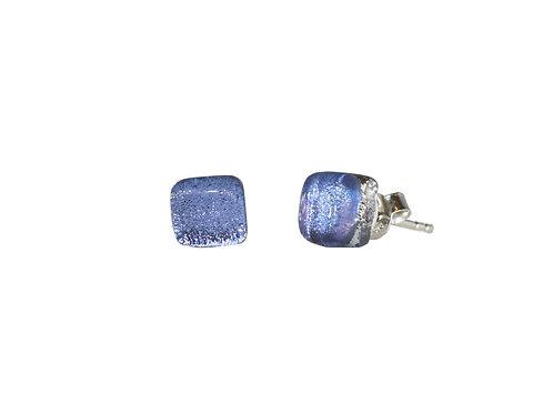 Northern Lights Glass Stud Øredobber Sparkling Lavender