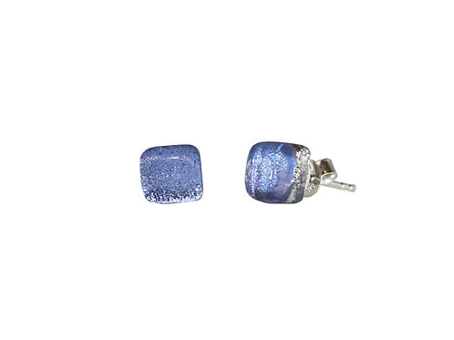 Northern Lights Glass Stud Earrings Sparkling Lavender