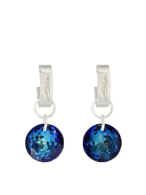 Classic Crystal Cut Earrings Bermuda Blue
