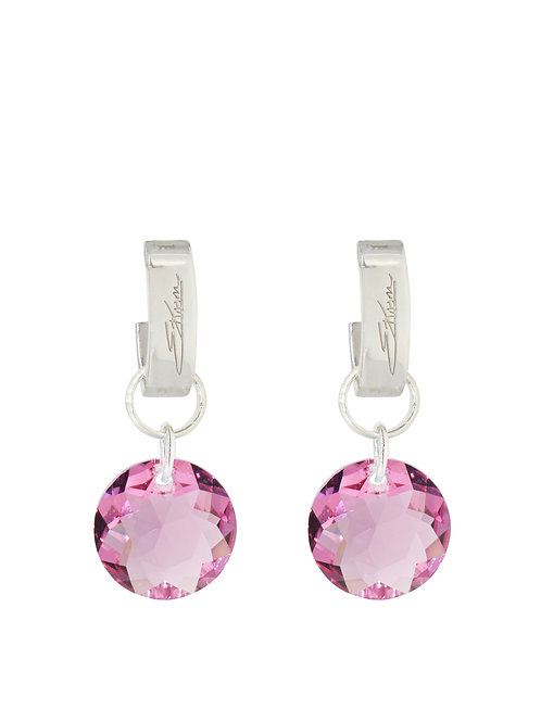 Classic Crystal Cut Earrings Rose
