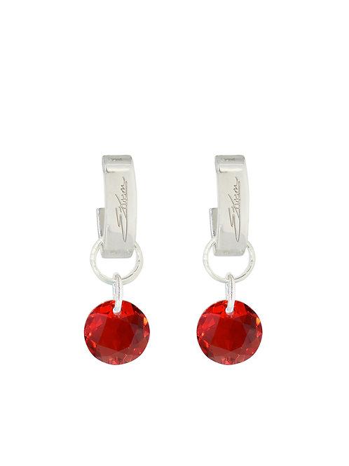 Classic Crystal Cut Earrings Light Siam