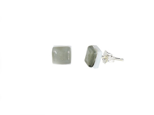 Northern Lights Stud Earrings Light Grey