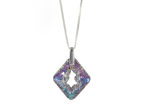 Cosmic Star Necklace Crystal Vitrail Light