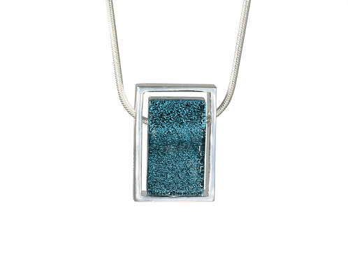 Northern Lights Necklace Sparkling Petrol Front View