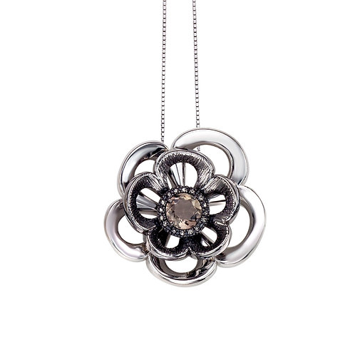 Blooming Flower Necklace | Sterling Silver Necklace | Ellen Kvam Norwegian Design