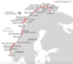 Hurtigruten Cruiseliners Norwegian Coastal Line Map