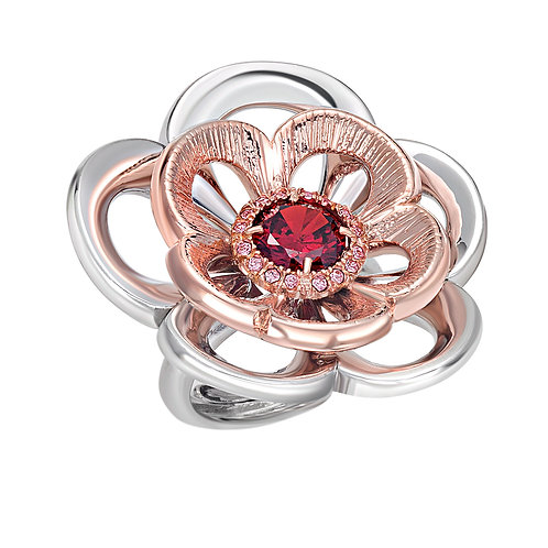 Rose Ring | High End Ring | Sterling Silver Ring | Ellen Kvam Norwegian Design