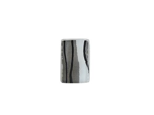 Handcrafted Glass Pendant Zebra Print