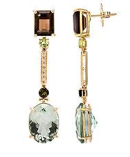 Ellen Kvam Green Amethyst earrings