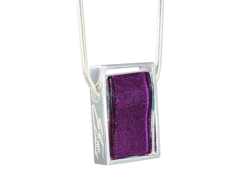 Northern Lights Necklace in Sparkling Purple Wine