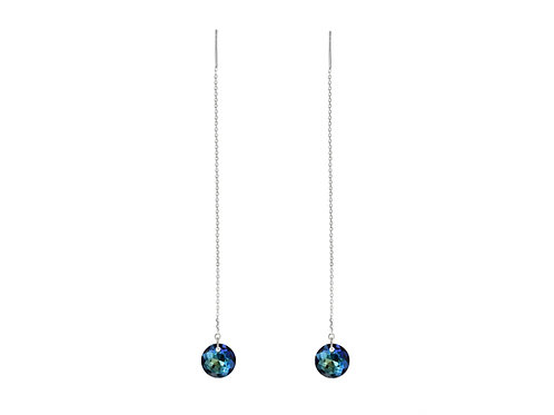 Threader Earrings | Bermuda Blue Earrings | Elegant Earrings
