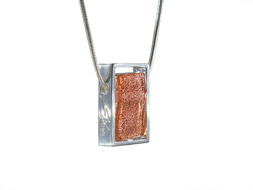 Northern Lights Glass Necklace Sparkling Coral