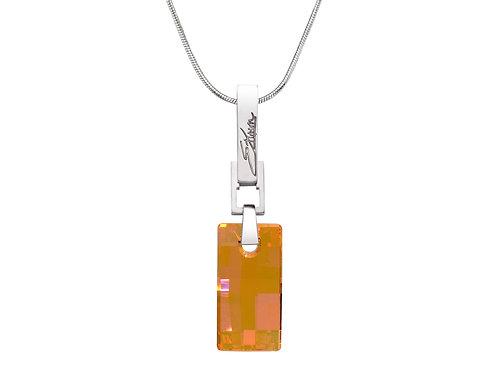 Simple and Elegant Sterling Silver Necklace | Swarovski Crystals | Urban Embers Necklace Astral Pink | Ellen Kvam