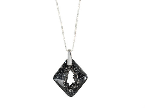 Cosmic Star Necklace Crystal Silver Night