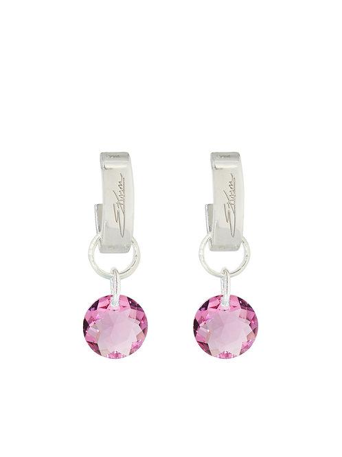 Classic Crystal Cut Earrings Rose
