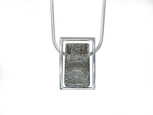 Northern Lights Necklace Sparkling Grey Front View