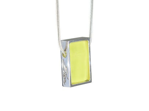 Canari Yellow Necklace in Sterling Silver from Northern Lights Collection