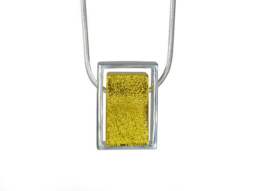 Northern Lights Necklace Sparkling Canari Front View