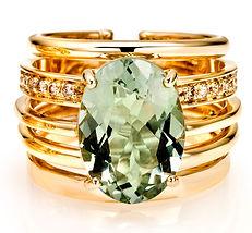 Ellen Kvam Green Amethyst ring