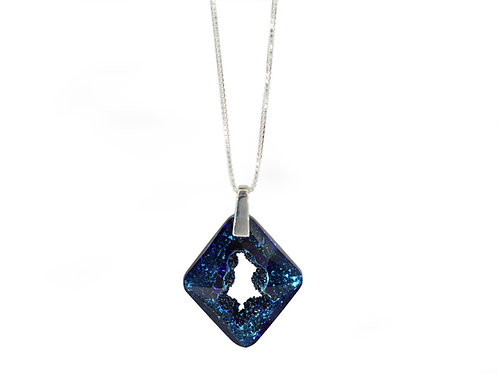 Cosmic Star Necklace Bermuda Blue
