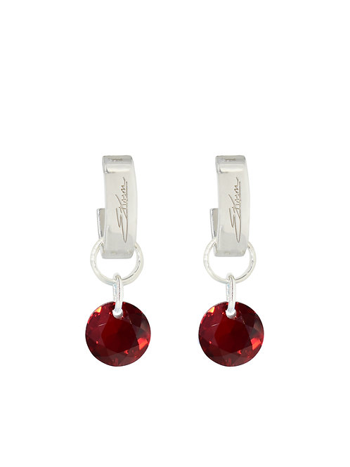Classic Crystal Cut Earrings Siam