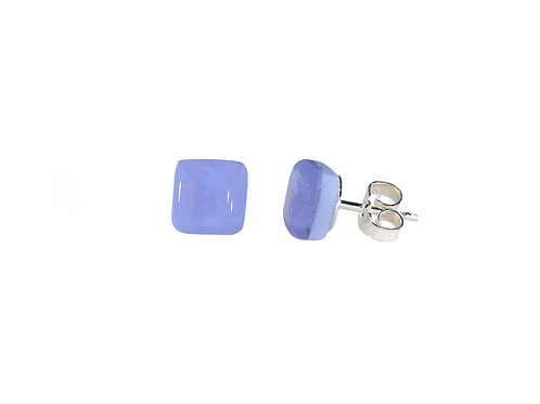 Northern Lights Glass Stud Earrings Neo Lavender