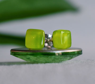 Northern Lights Jewellery | Glass Stud Earrings | Ellen Kvam Norwegian Design