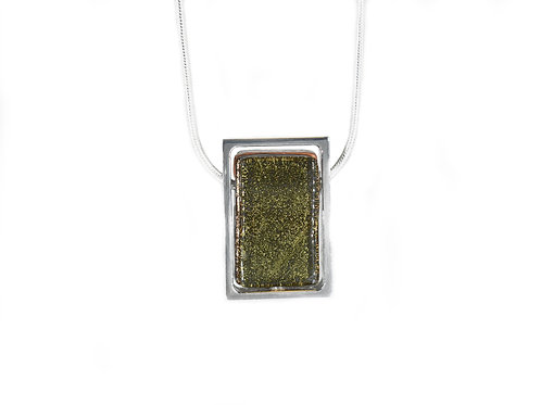 Northern Lights Necklace Metallic Front View