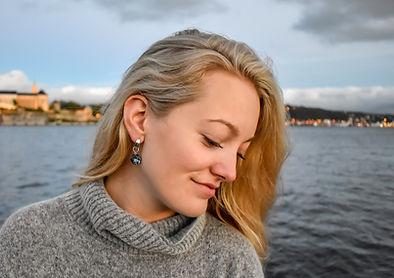 Classic Crystal Earrings with Swarovski Crystals by Ellen Kvam Norwegian Design
