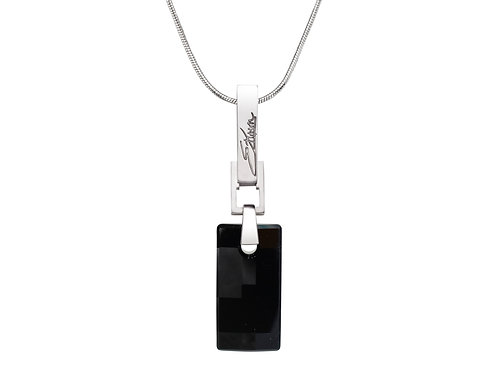 Simple and Elegant Sterling Silver Necklace | Swarovski Crystals | Urban Embers Necklace Jet Black Crystal | Ellen Kvam