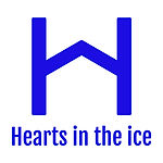 Hearts In The Ice Logo | Royal Blue