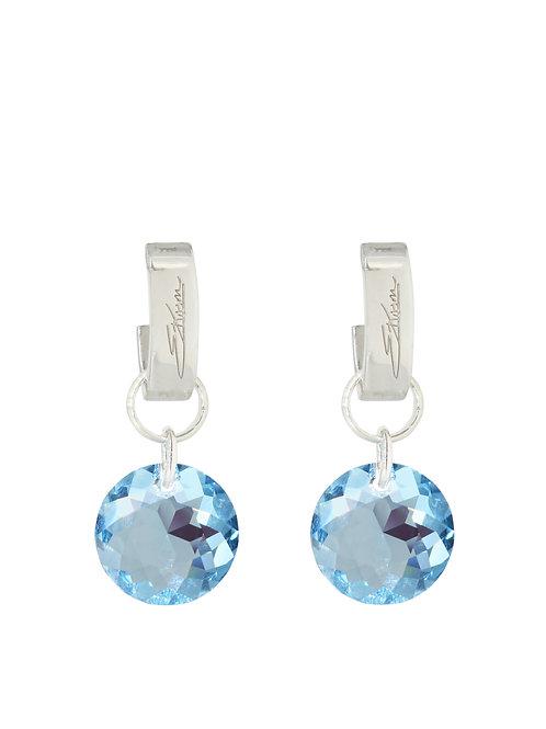 Classic Crystal Cut Earrings Aquamarine