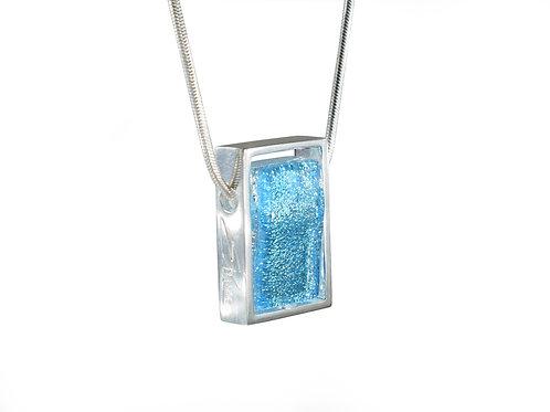 Northern Lights Glass Necklace Sparkling Blue