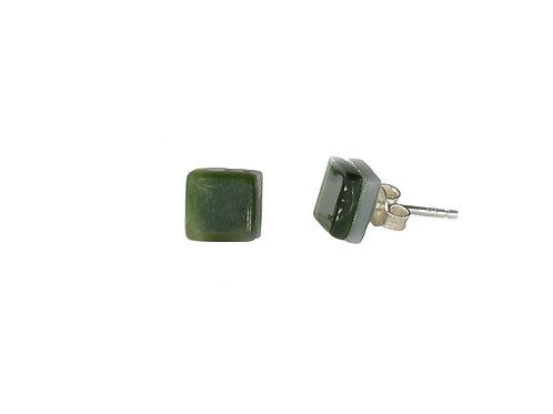 Northern Lights Stud Earrings Moss Green