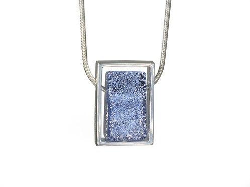 Handcrafted Glass Pendant Sparkling Lavender Front View
