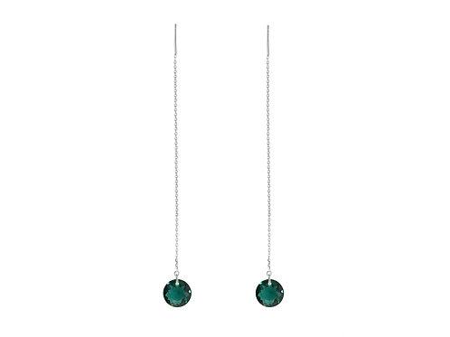 Threader Øredobber Emerald Grønn