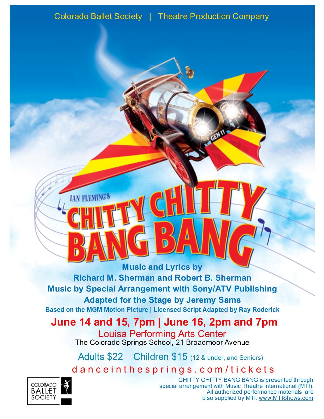 Chitty Chitty Bang Bang 2018 poster 8.5x11