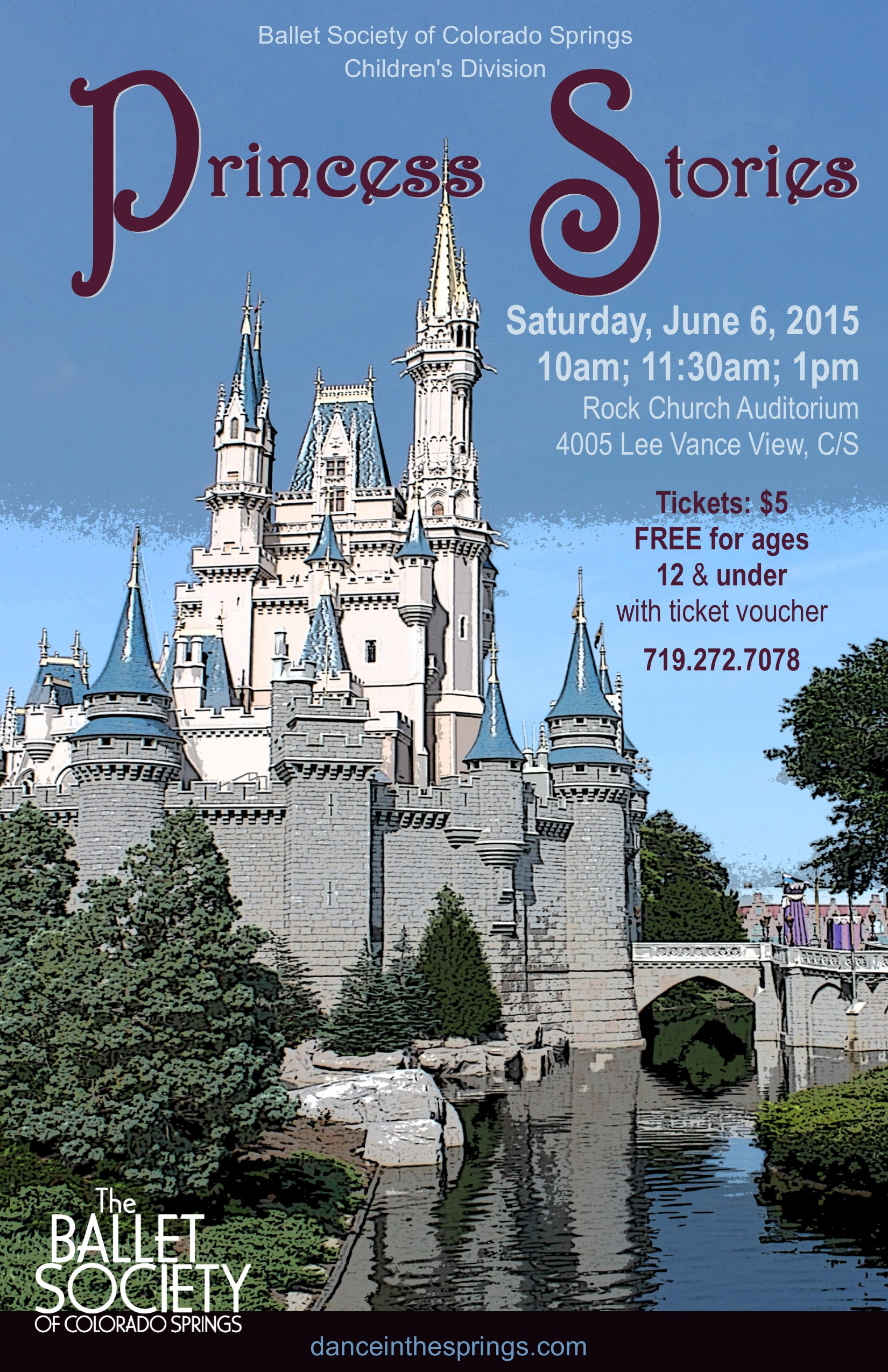 2015-6-6 Children's Division Princess Stories 2015 poster