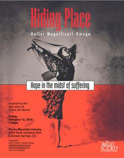 2010-2-12 Ballet Mag Hiding Place studio autograph poster