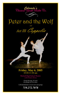 2005-5-6 CYB Peter and Coppelia school flyer enlarged