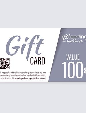 $100 Exceeding Wellness Gift Card