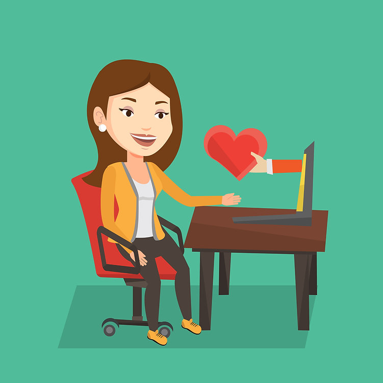 graphicstock-woman-using-laptop-and-dati