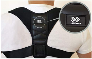 Working from home - posture support brace