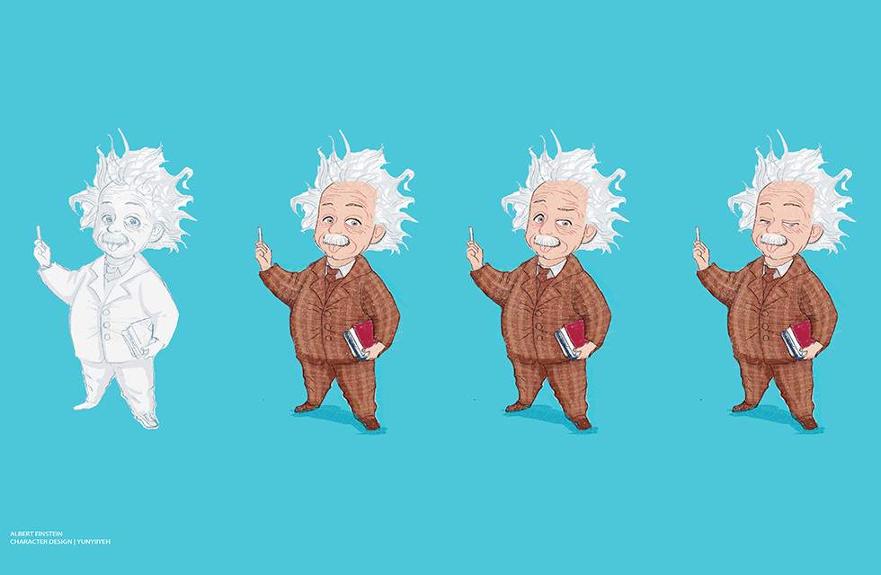 1000_Albert Einstein_character design_角色