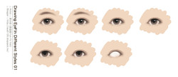 showing_how_to_draw_eye_in_different_styles_01_s_葉小妖 (葉蘊儀 Yun-Yii Yeh)_言情小說眼睛