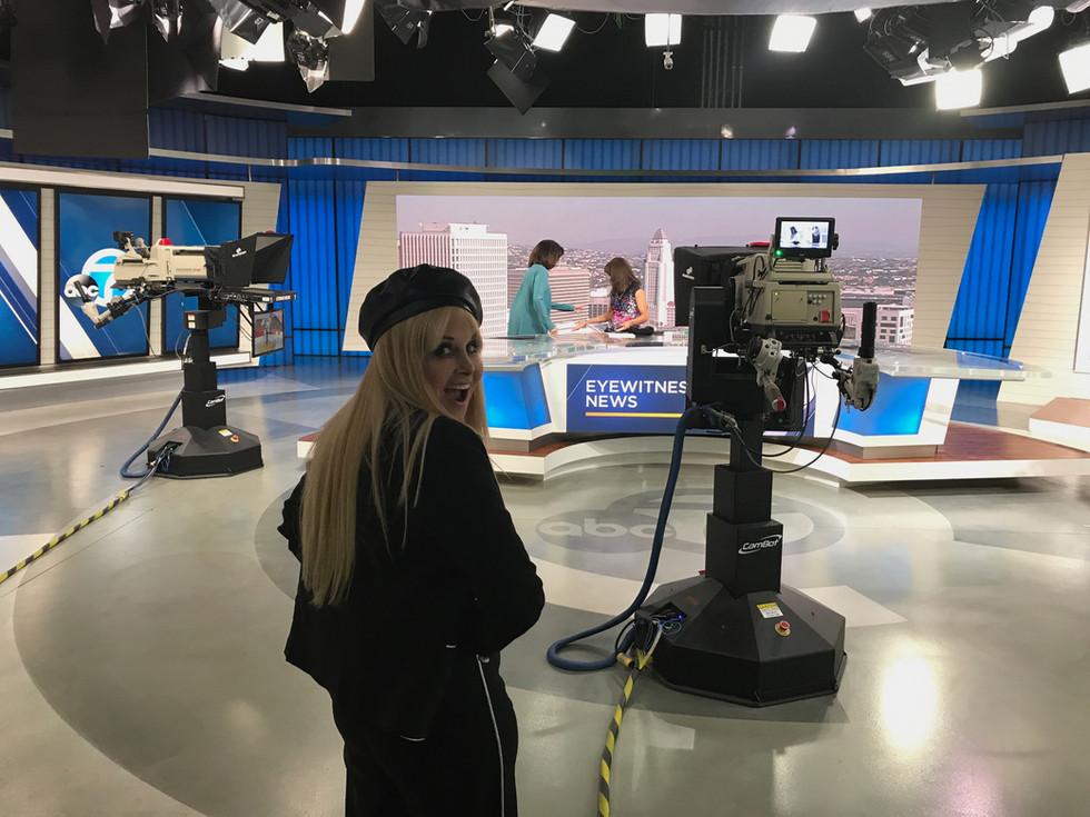 On ABC NEWS set.