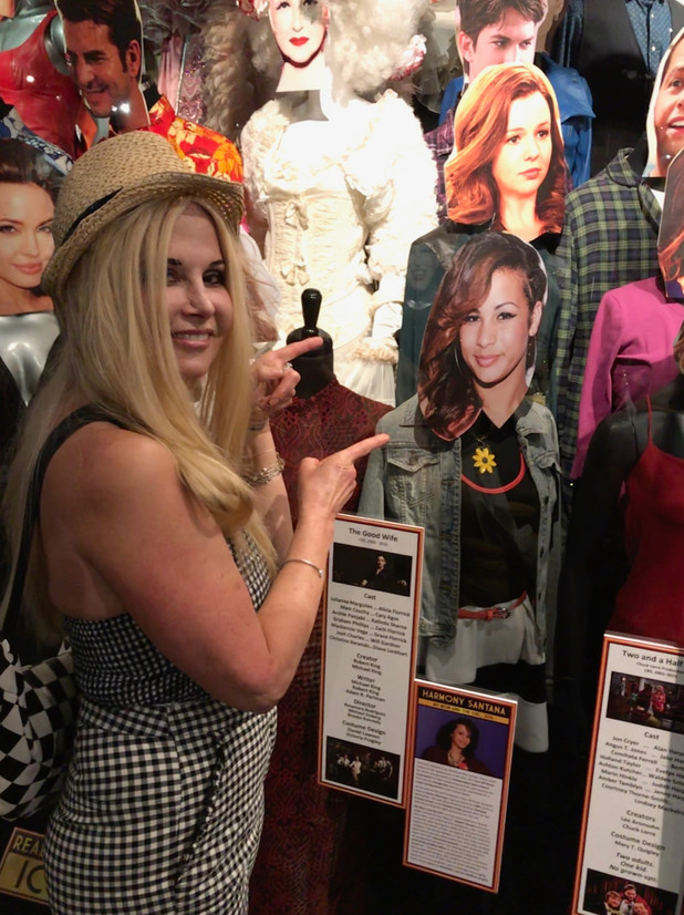 """The role of """"The Girl"""" (Harmony Santana) in My Mom and The Girl in an installation at the Hollywood Museum honoring iconic LGBTQ portrayals."""