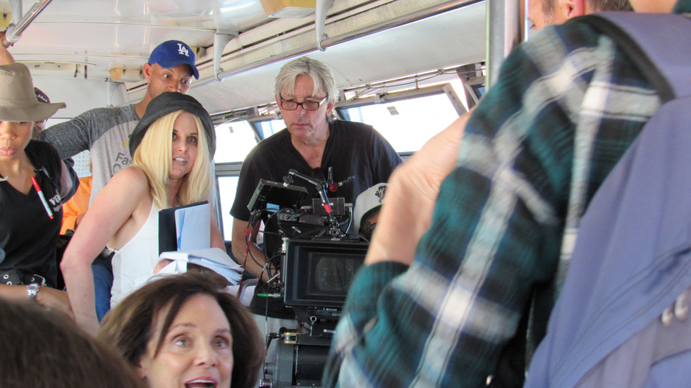 DIrecting My Mom and The Girl with incredible cinematographer, Chris Tufty.