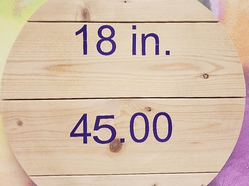 18 in ROUND